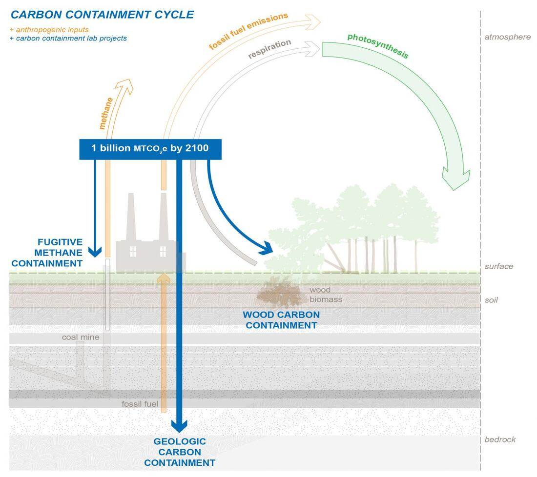 Graphic of the carbon cycle.